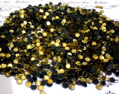 Strass 4mm Dourado Light.
