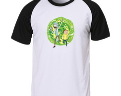 Camiseta Raglan Rick And Morty