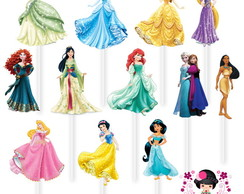 Tag no Palito Princesas Disney