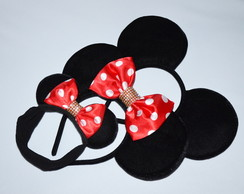 Kit 3 Orelhas Luxo(2Minnie1Mickey)