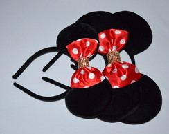 Kit3 Orelhas Luxo(2Minnie1Mickey)