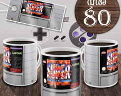 Caneca Street Fighter Cartucho Game Snes