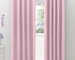 Cortina Voil com Blackout Rosa 4,00x2,50