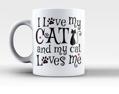 Caneca I love my Cat Modelo 3