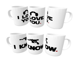 Kit Caneca I Love You I Know - Star Wars (2 unidades)