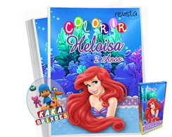 Kit colorir pequena sereia
