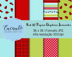 Kit Papel Digital - Joaninha
