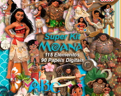 Super Kit Digital Moana Scrapbook