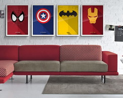 Quadro Decorativo com Moldura Geek 30x40