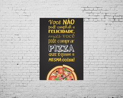 Placa Decorativa Pizza 40 x 30 cm