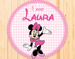 Placa Digital Minnie Rosa