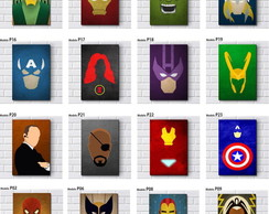 Placa Decorativa Mdf-Herois Marvel