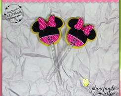 Topper Doces/Cupcake Minnie Rosa