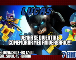 CONVITE DIGITAL LEGO BATMAN