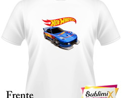 Camiseta Branca Hot Wheels