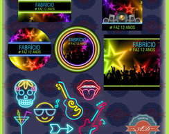 Kit Festa Digital Balada Neon