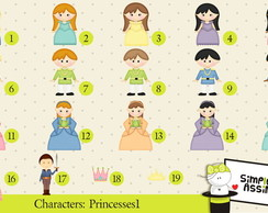 Characters Princesses 1