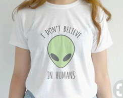 T'shirt BabyLook Personalizada E.T frase