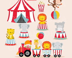 Kit Digital Scrapbook Circo 10