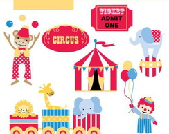 Kit Digital Scrapbook Circo 18