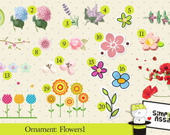 Ornaments: Flowers 1
