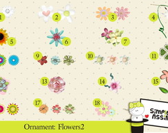 Ornaments: Flowers 2