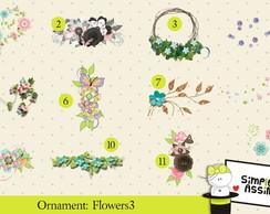 Ornaments: Flowers 3