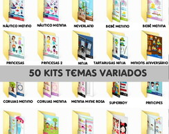 Kit Digital Temas Variados - 50 kits PNG