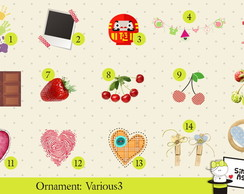 Ornaments: Various 3