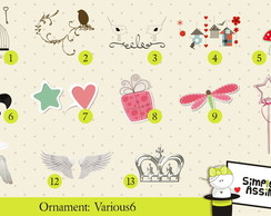 Ornaments: Various 6