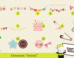 Ornaments: Various 7