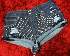 Short Jeans Multi Tachas & Spikes