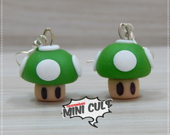 Par de brinco Mushroom 1Up - Super Mario