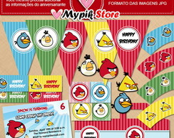 Kit digital de aniversario Angry Birds