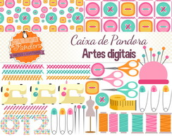 Kit Scrapbook Digital - Costura