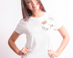 T-shirt: Camiseta Feminina Patches