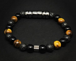 Black and Tiger Eye Bracelet