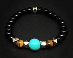 Black and Turquoise Bracelet
