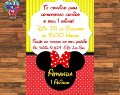 Arte digital Convite - Minnie