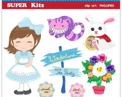 Kit Digital Scrapbook Alice 6