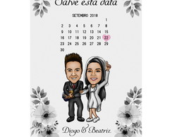 Caricatura Save the Date - Casamento