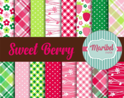 Papel Digital - Sweet Berry