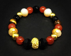 Gold and Mix Beads Bracelet