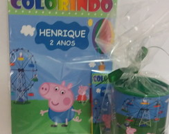 kit p colorir com cofre George Peppa