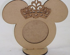 Porta Retrato Redondo Mickey Minnie