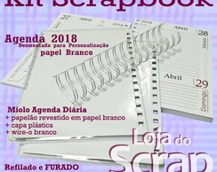 kit Scrapbook agenda wire-o com luva