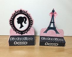 Porta Chocolate duplo tema Barbie Paris