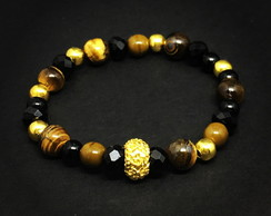 Tiger Eye and Gold Bracelet
