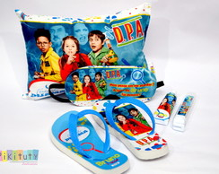 Kit Festa do Pijama +chinelo +Kit dental