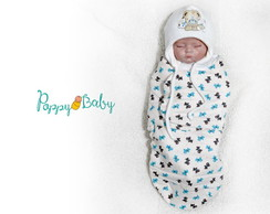 Swaddle Prematuro Out/Inverno Cachorrinho